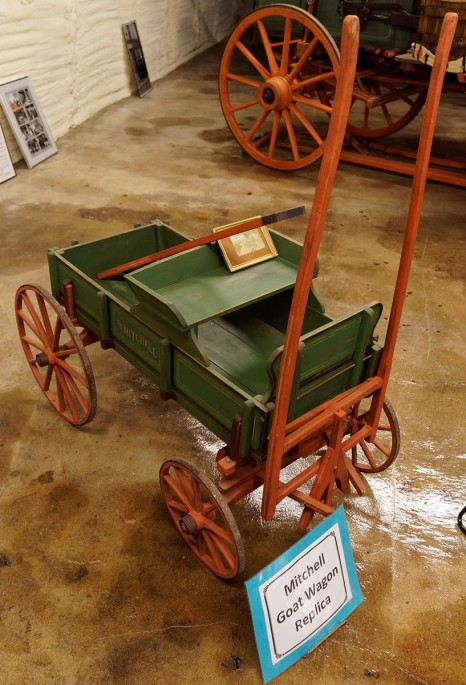 This is a replica of a Mitchell Goat Cart.