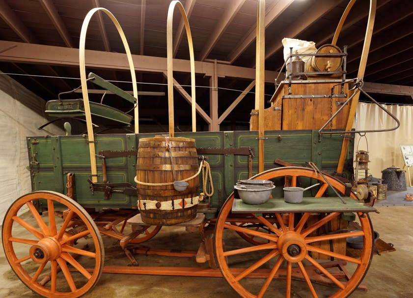 A Mitchell Farm Wagon was turned into a chuck wagon by a modern-day entrepreneur.