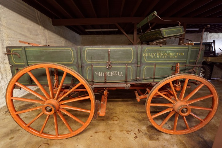 Mitchell Farm Wagon from the 1880s.  This one was sold in Wymore, Nebraska.