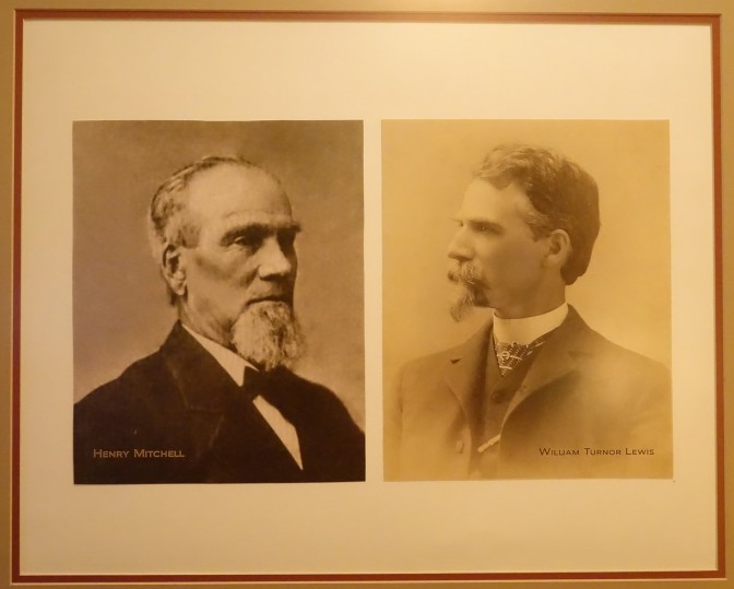 Henry Mitchell, founder of the wagon company, and William Turnor Lewis, his son-in-law and founder of the automobile company.