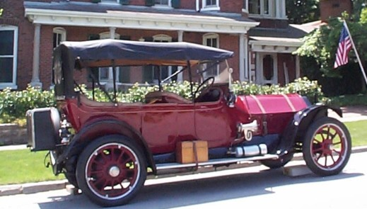 "Our first Mitchell -- a 1914 5-Passenger Touring Car we named ""Mitch."""